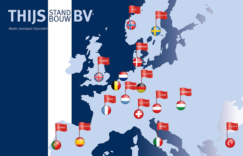 Thijs Standbouw, Thijs Standbouw bv, Thijs Standbouw worldwide, Thijs Standbouw map